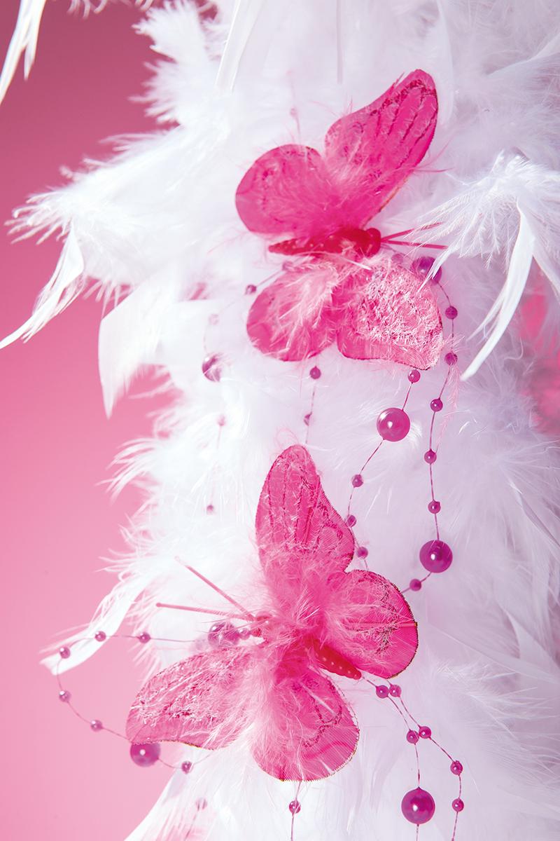 mariposas y boa de plumas decoracin de san valentn