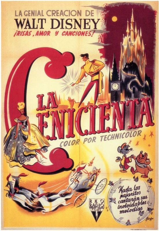 La Cenicienta Poster Original Cinderella Original Poster Dgiiirls Carteles De Peliculas De Disney Disney Disney Clasico
