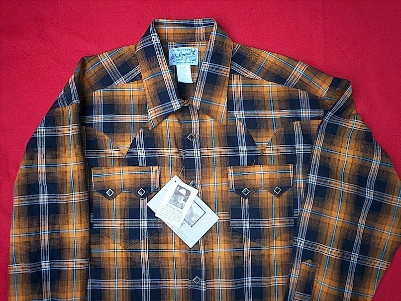 Brand New Shadow Plaid 1950s Style Rockmount Shirt Large #ROCKMOUNT