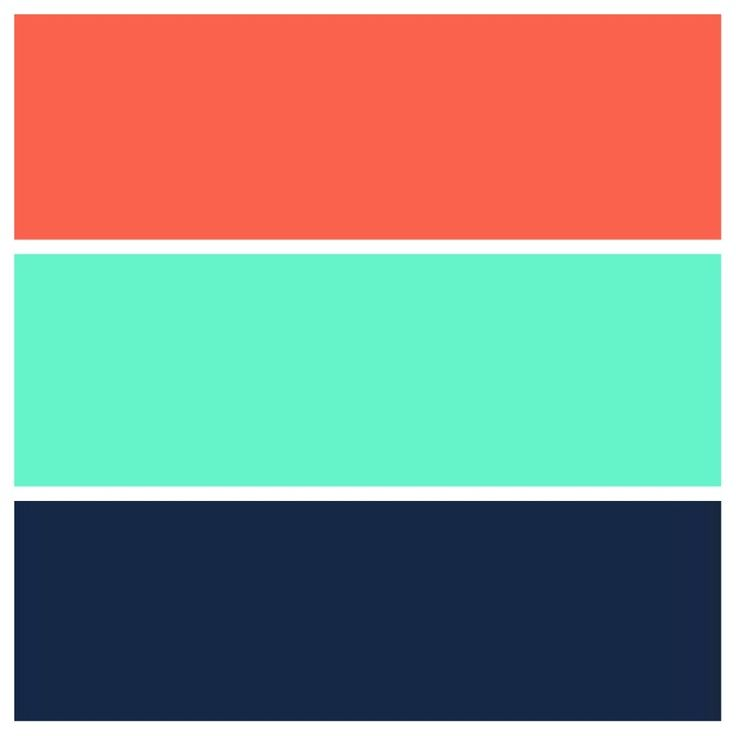 Teal, Navy , And Coral Color Scheme