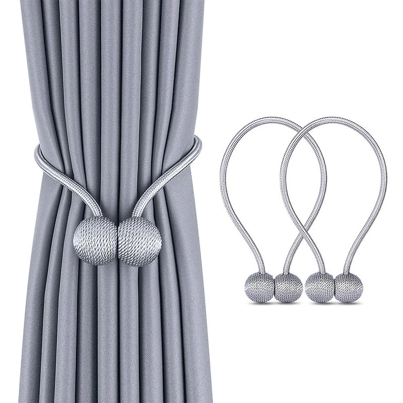 Magnetic Ball Curtain Tieback Buckle Holder Strap Clips Home Window Accessories