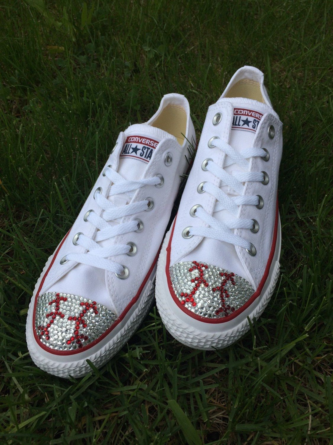 510519ff04e1 Low Top Baseball Blinged Converse Shoes. Custom Made Converse. Toddler  Shoes…