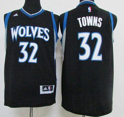 182e25738b2 ... germany jersey mens minnesota timberwolves 32 karl anthony towns  revolution 30 swingman 2015 draft new black