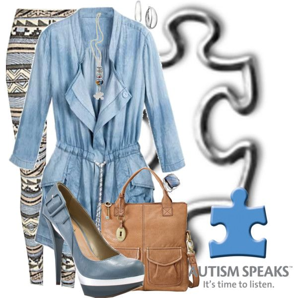 April is Autism Awareness Month..., created by becksd78 on Polyvore