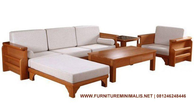 Kursi Tamu  Sofa Empuk Minimalis  Mewah Kayu Jati Set Ruang