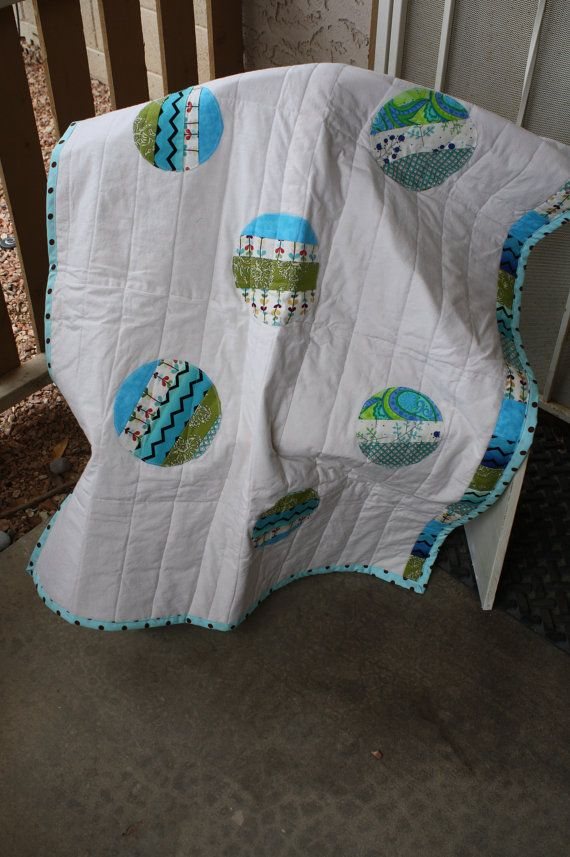 Modern Circles Baby Quilt by nikisventures on Etsy, $45.00