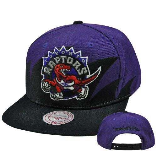 Toronto Raptors Mitchell  amp  Ness Shark Tooth Vintage Snap Back Hat by  Mitchell  amp  d86090ce3b02