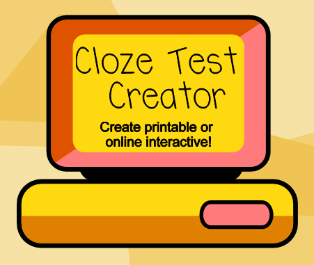 insert your text and within a couple of clicks you have a cloze ...