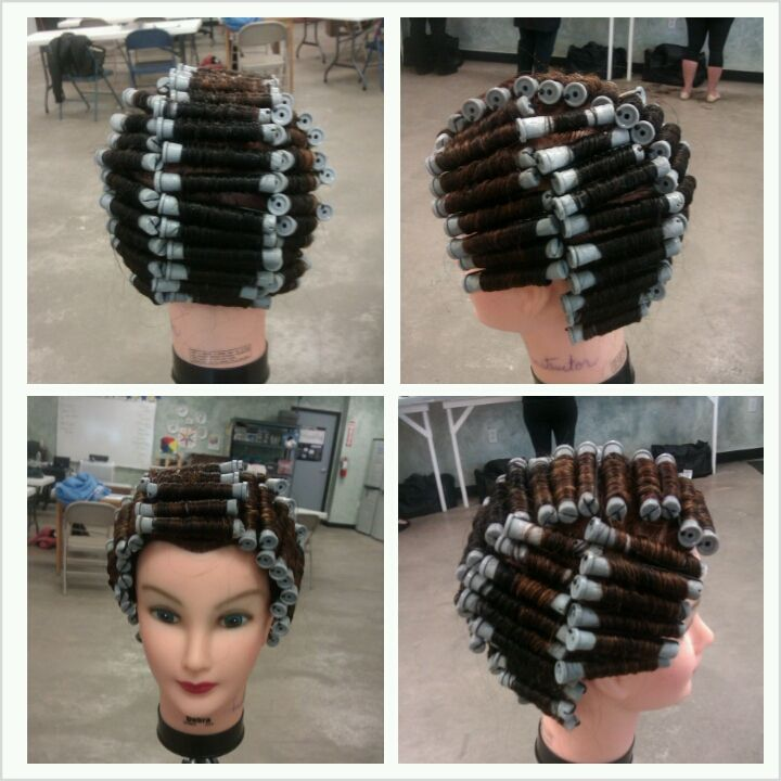 all perm wraps begin by sectioning the hair into