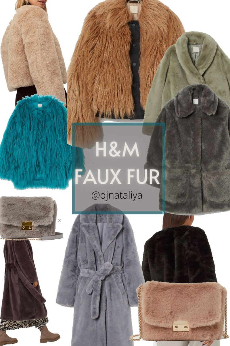 Bag from blue jeans and fake fur