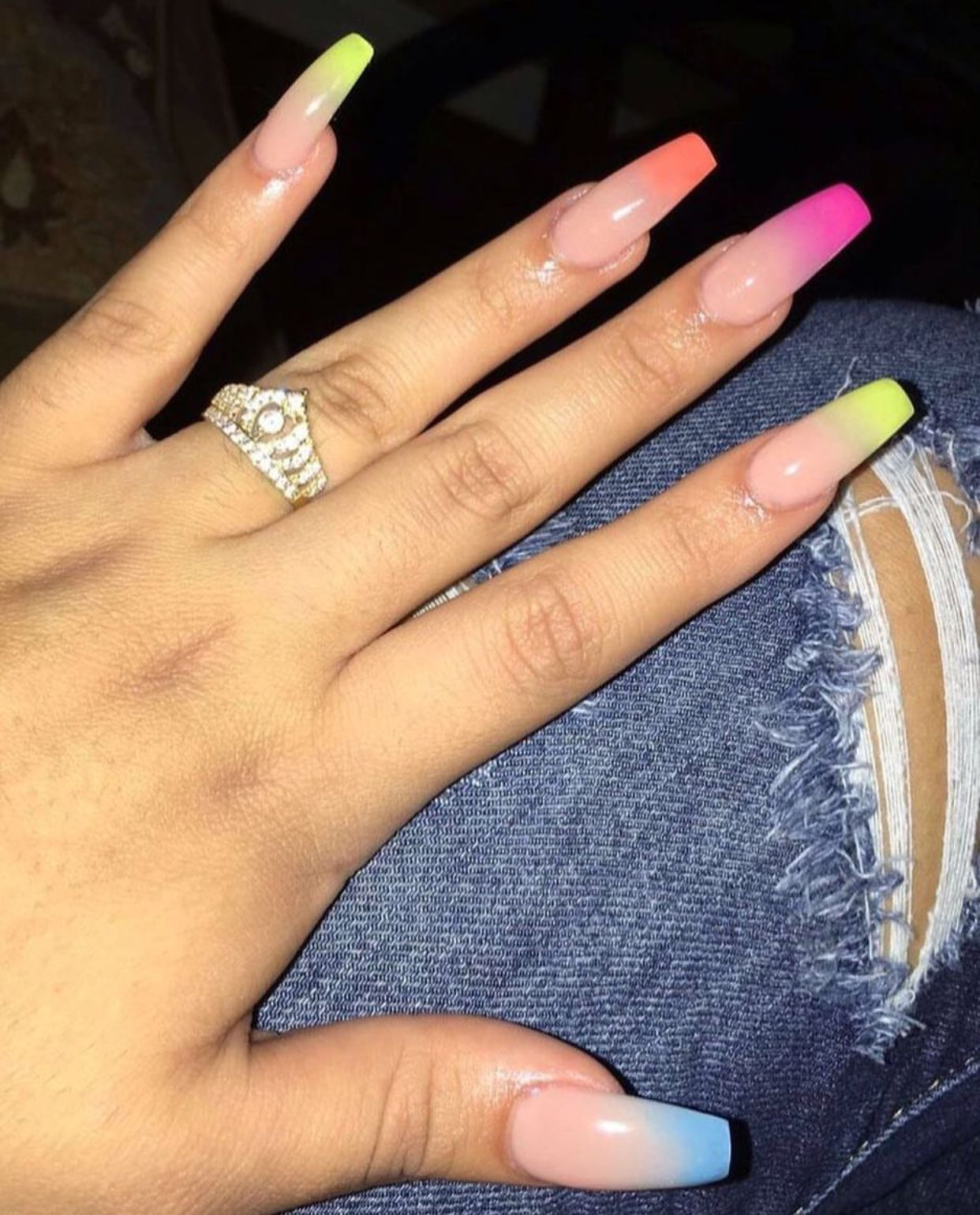 Pin By Luz Info On Nails Cute Acrylic Nails Ombre Acrylic Nails Nails