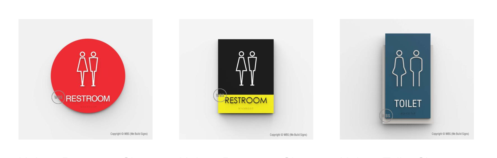 Three ADAcompliant Unisex Restroom Signs Click To See More - Ada compliant bathroom signs