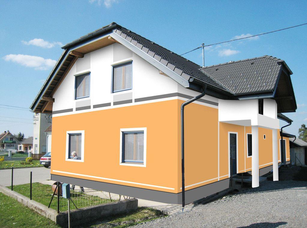 Fassadengestaltung Farbgestaltung Architekturfarbe Fassadenfarbe