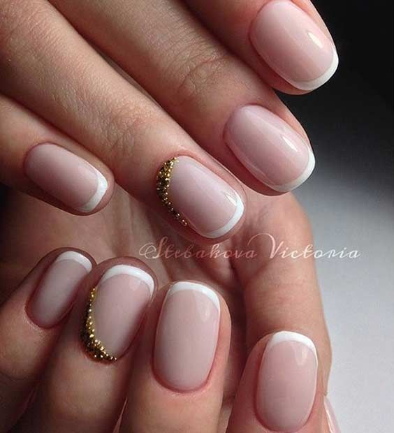 31 Cool French Tip Nail Designs | Pinterest | School nails, Nail ...