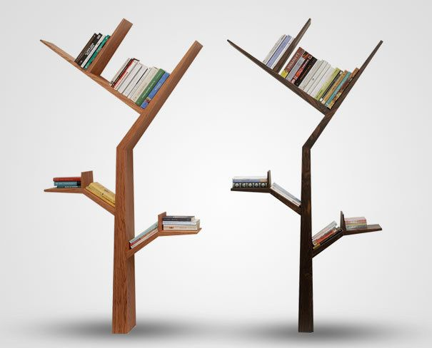 Grow Your Collection On A Tree Shelf. | 27 Insanely Clever Ways To Display  Your Books ~ Really Love This One!