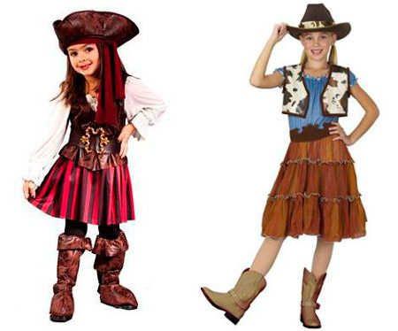 los mejores disfraces para nias en halloween pirata o vaquera