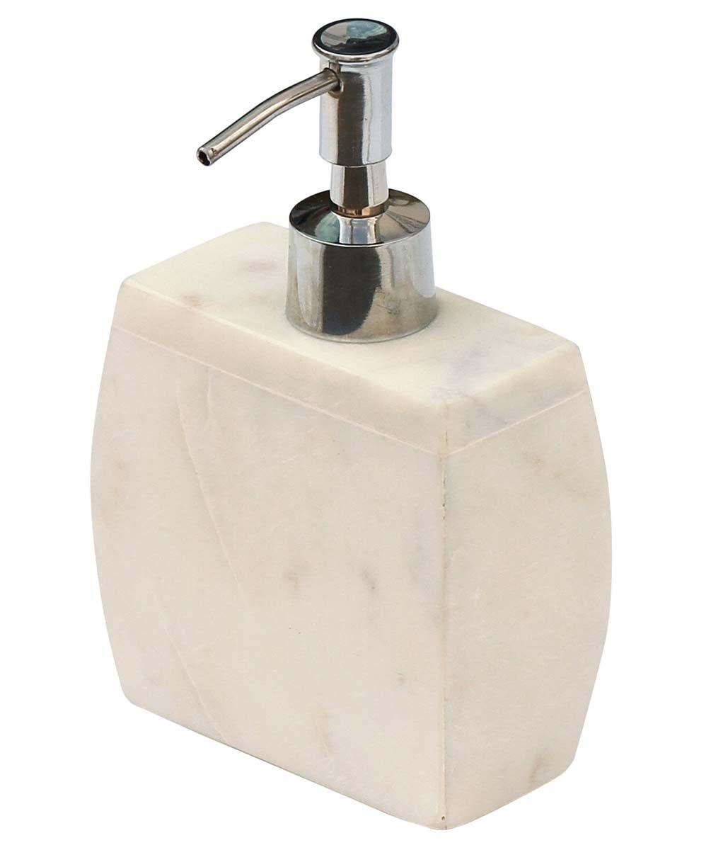 Snowy White Handmade Liquid Soap Dispenser with Aluminium Pump
