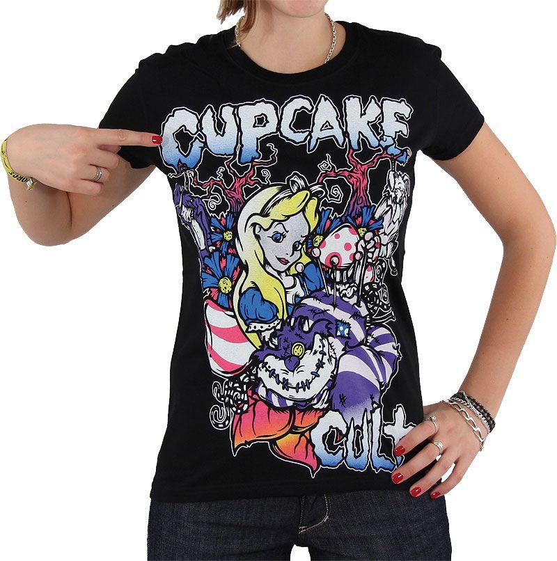 Cupcake cult Alice in wonderland t shirt
