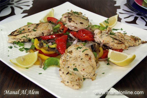 فيليه الدجاج المشوي2012 Recipes Healthy Dinner Recipes North African Food