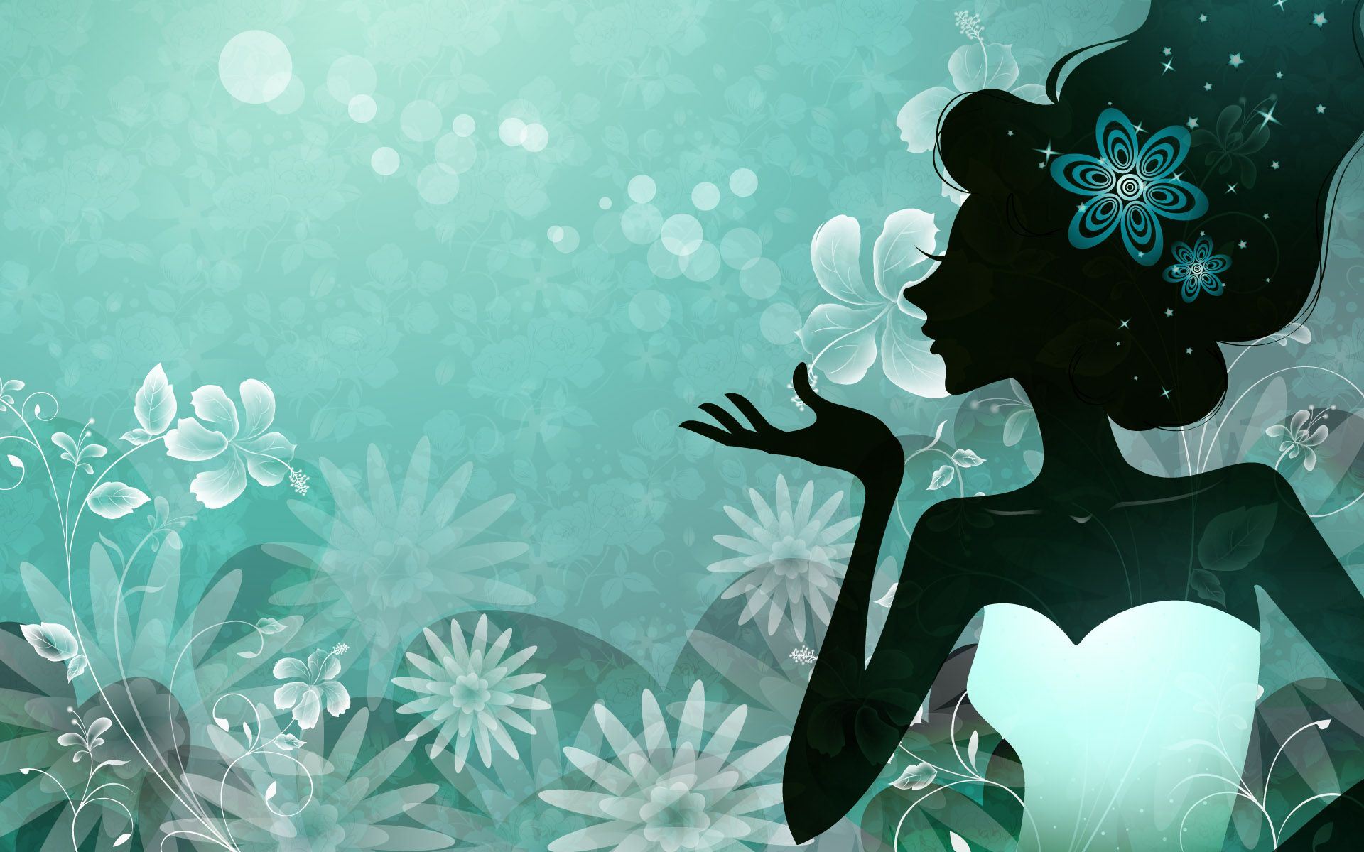 Beautiful girl turquoise vector wallpapers hd widescreen - Turquoise wallpaper pinterest ...