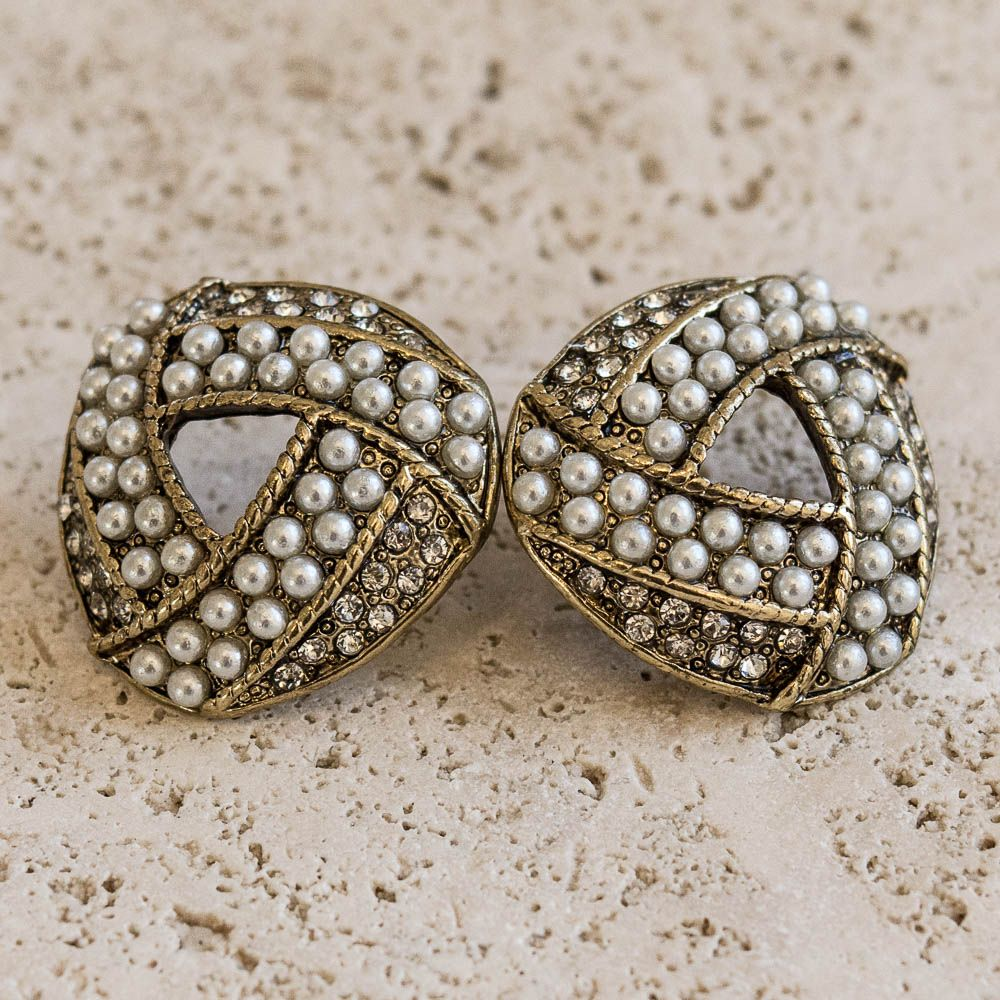 earrings stud in jewellery gold antique products achkiy kusa