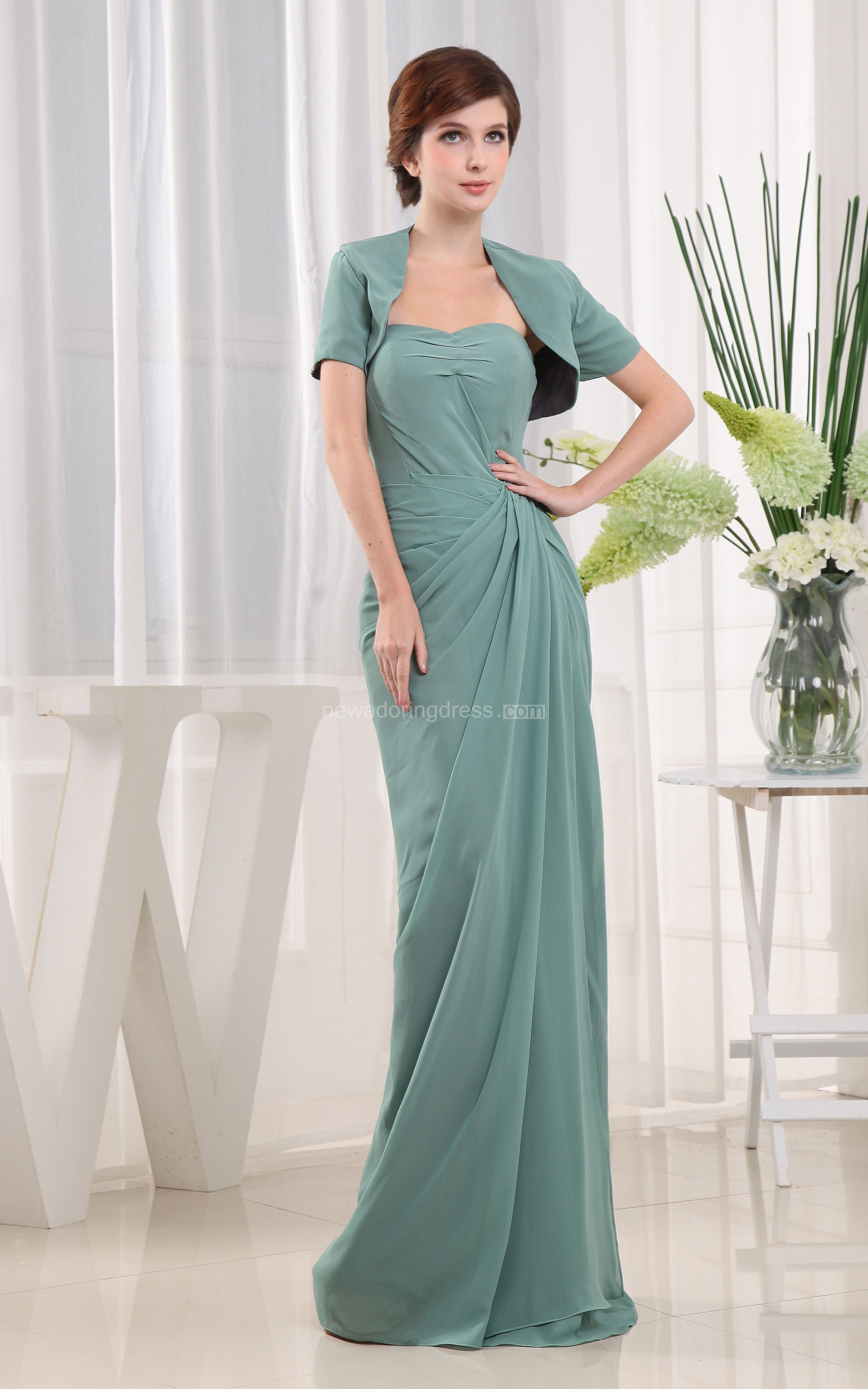 Elegant Strapless Floor-Length Dress With Side Draping | Floor ...