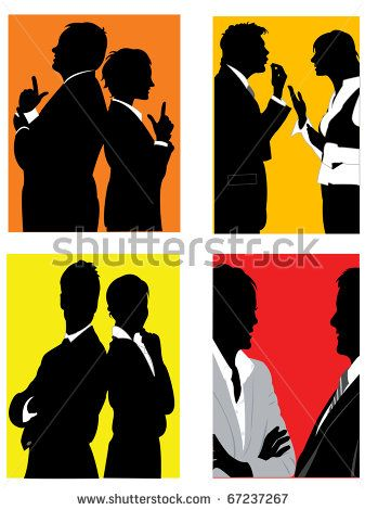Stock Images similar to ID 132978503 - vector silhouettes of business...