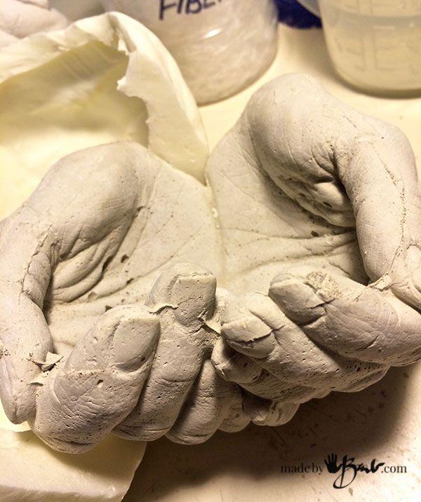 DIY Life Cast Concrete Hands - Made by Barb - Alginate Life