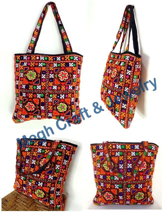Gujarati Rabari Embroidery Handbag Totes Handbags And Footwear
