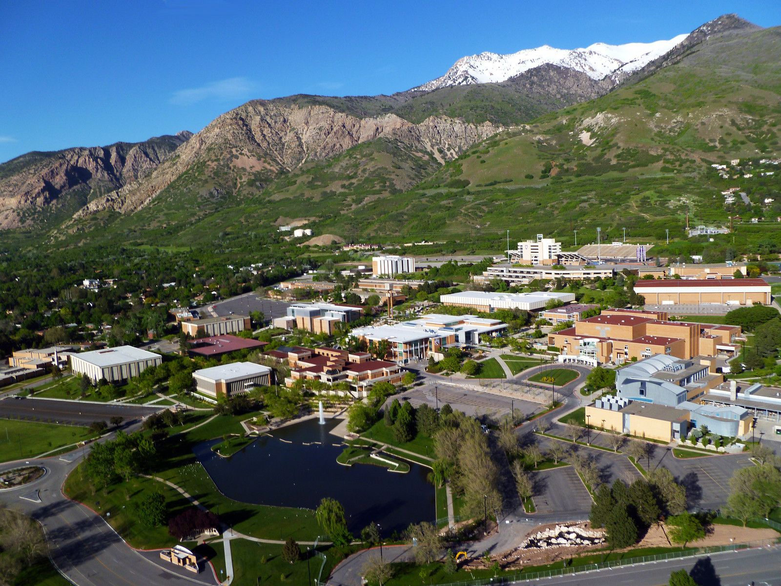 Weber State University aerial view    Campus Beauty   Places