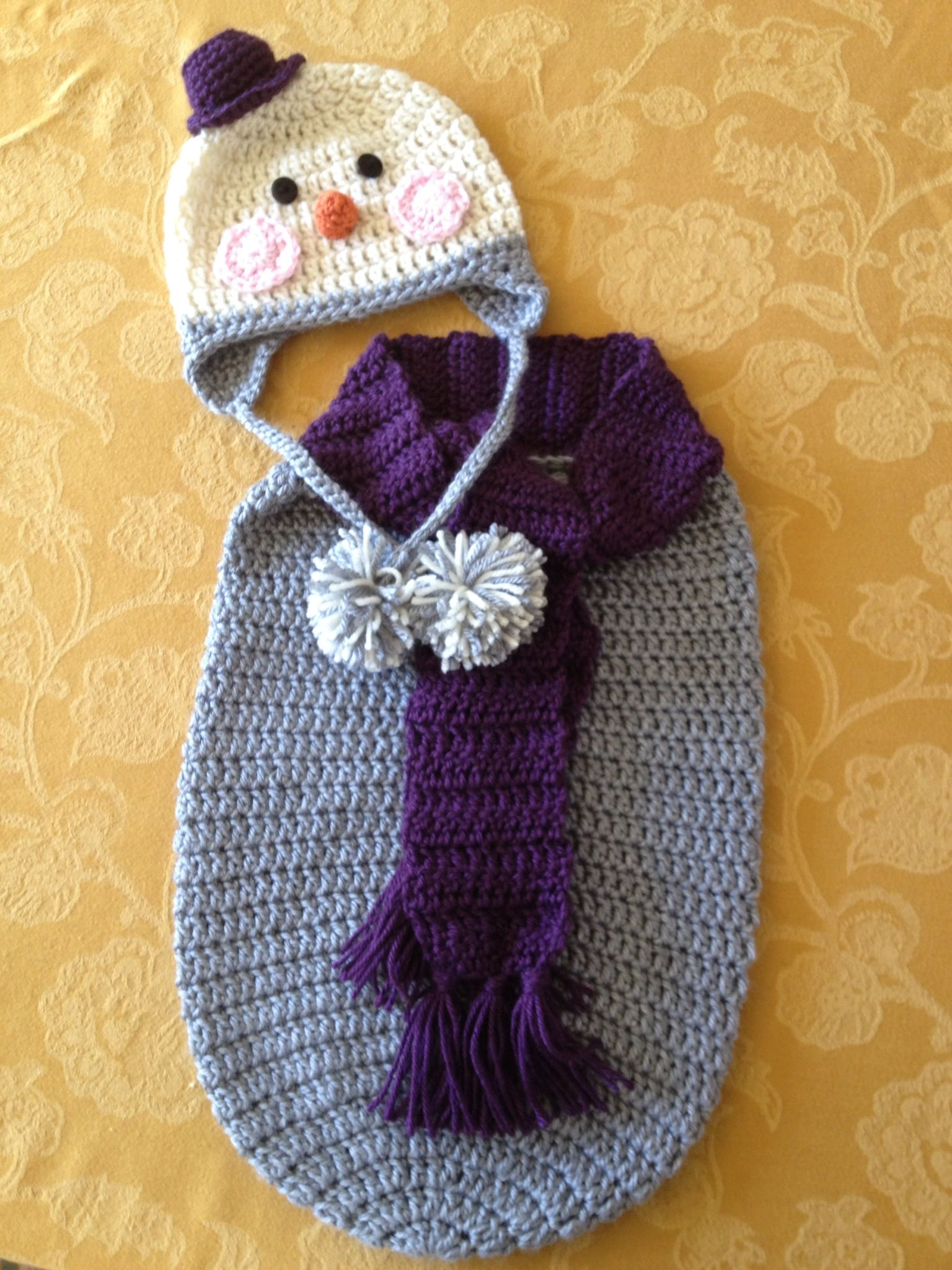 Snowman Baby Bunting Crochet Pattern Topsimages