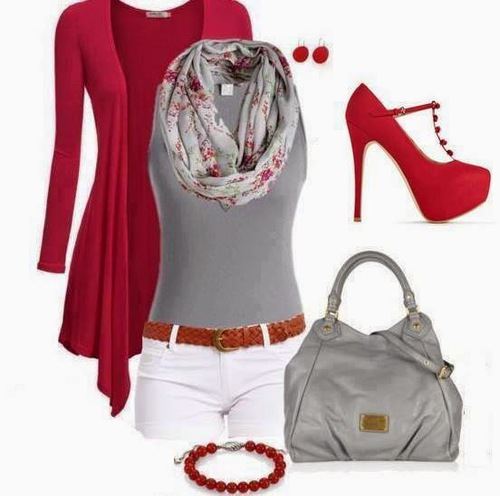 trends4everyone: Spring Outfits Trends... ladies fashion  #bags -  shoes