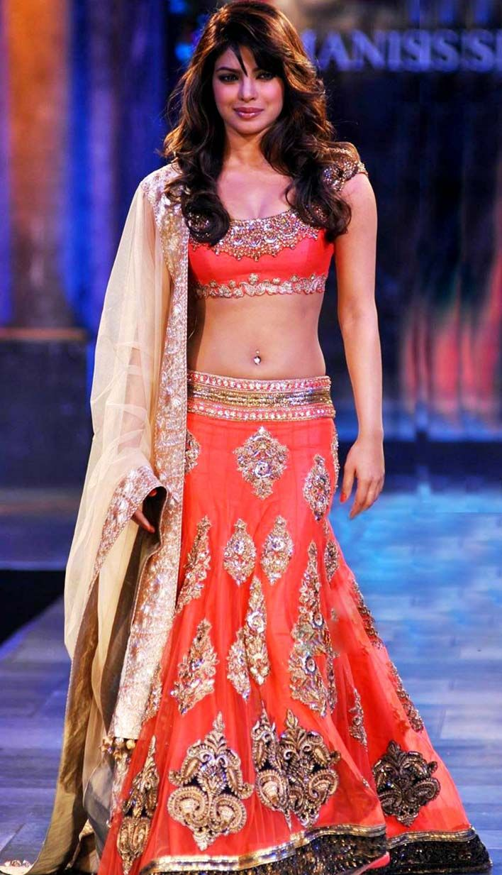 Indian Bollywood Designer Wedding Burnt Orange Crepe Lehenga Choli ...