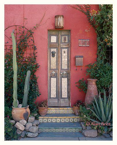 Very skinny door mind u & red doorway by Alain Briot   doors \u0026 windows   Pinterest   Doors ...