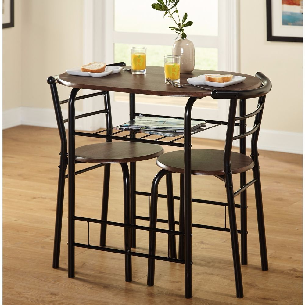Bistro Dining 3 Pc Set Table Chairs Home Kitchen Bar Porch Furniture ...