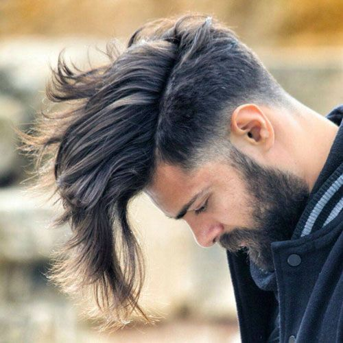 Long undercut hairstyle