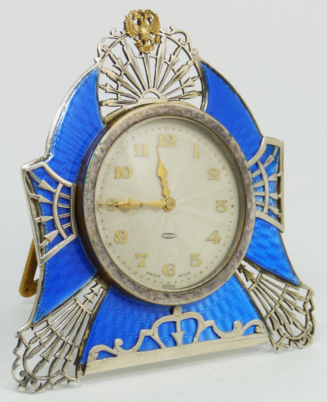 Swiss movement russian silver guilloche clock art deco flavor swiss movement russian silver guilloche clock art deco flavor amipublicfo Images