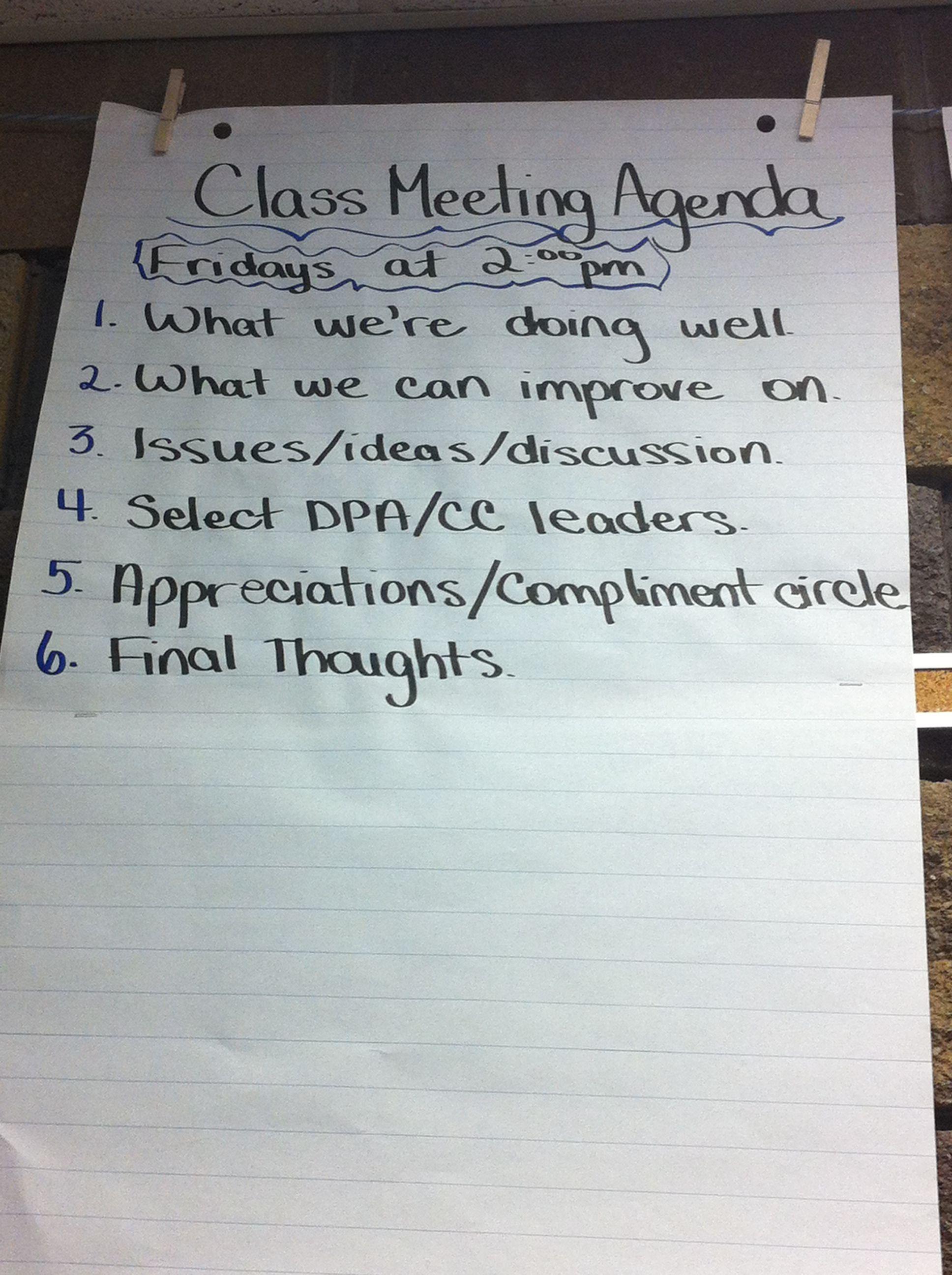 Class Meeting Format School Pinterest Class Meetings