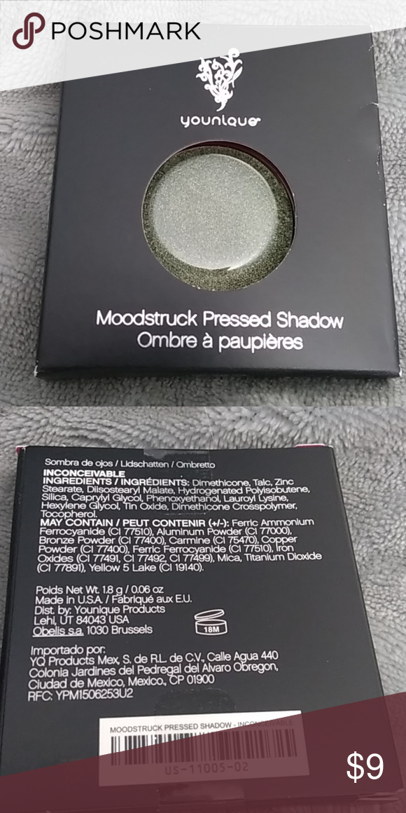 Pressed Shadow Refill-Inconceivable Younique, pressed shadow refill- Inconceivable. Brand new, never opened.  Emerald Shimmer Younique Makeup Eyeshadow #youniquepressedshadows