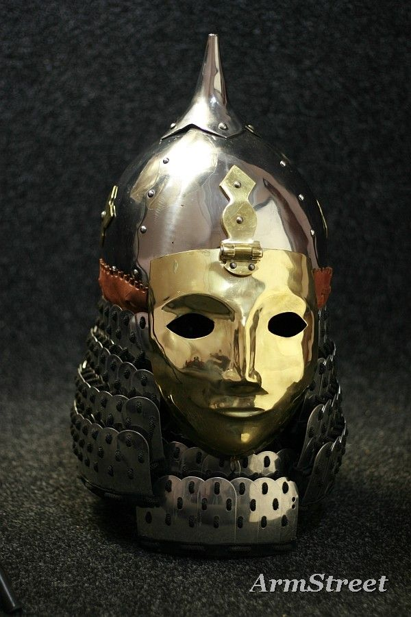 This Kievan Rus helm looks like what the Nephilim might wear, only with a more detailed likeness of the wearer's face.