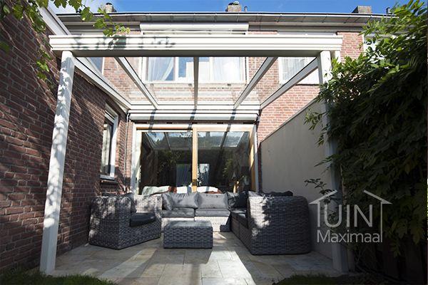 Overdekt genieten van de zon en de tuin met een aluminium gumax