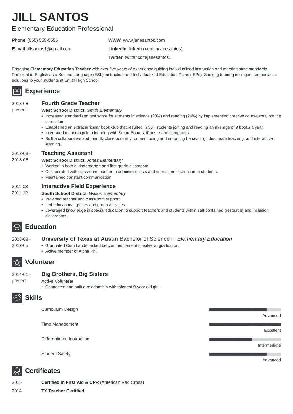 Teacher Resume Template in 2020 Jobs for teachers