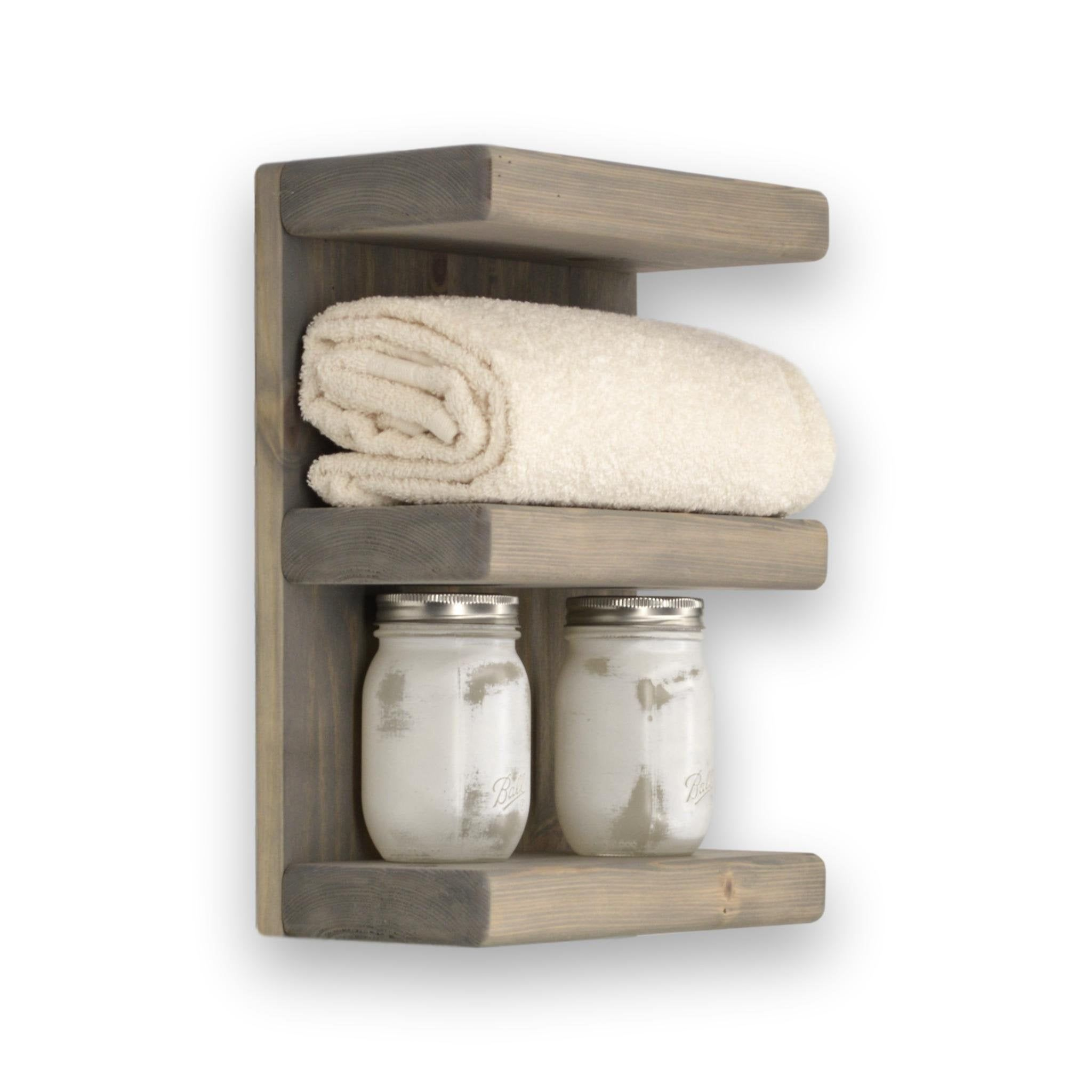Three Tier Bathroom Shelf Bathroom Wall Shelves Wall Shelves