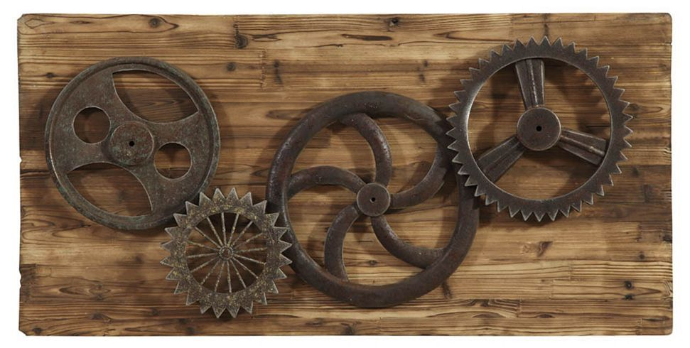 Lovely Industrial Gears Wall Decor | Havertys