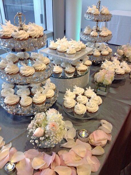 Dessert Table Winter Wonderland Theme Snowflake Cupcakes
