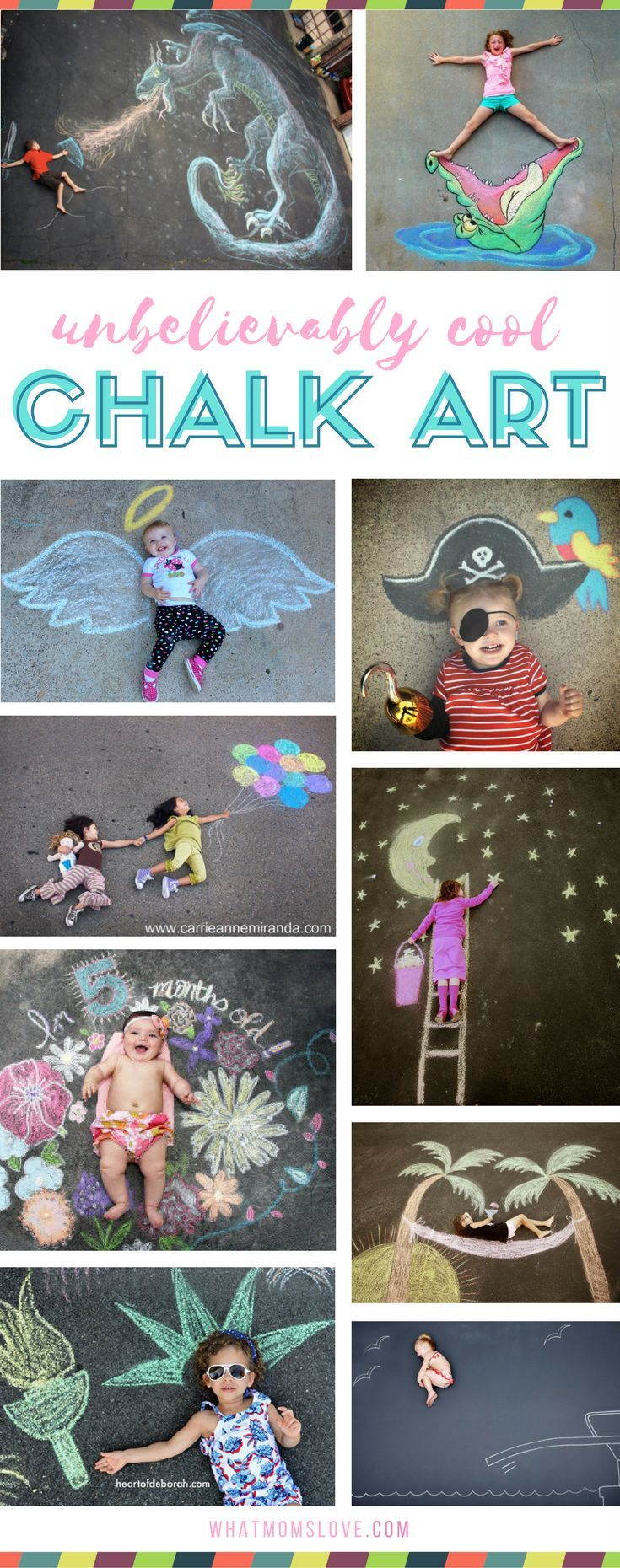 Creative Fun For All Ages With Easy Diy Wall Art Projects: 101 Genius Sidewalk Chalk Ideas To Crush Summertime