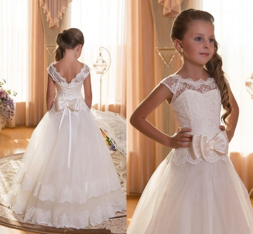 Girls wedding dress shoes  Hot Sale A Line Full Length Kids Formal Wear Children Pageant