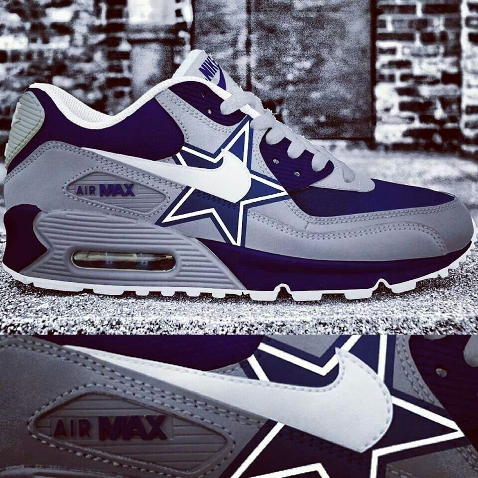 new product b31a0 88770 dallas cowboys custom nike air max shoes