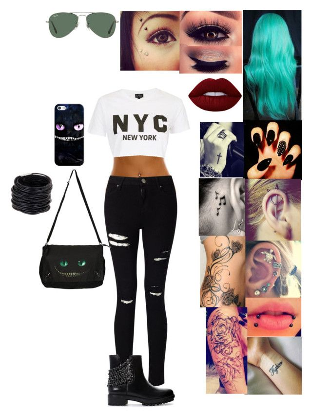"""""""Untitled #240"""" by alexdevil on Polyvore featuring Miss Selfridge, Topshop, Zara, Ray-Ban, Disney, Casetify and Saachi"""