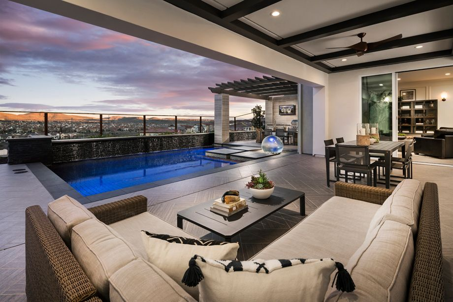 Luxurious indoor and outdoor living spaces seamlessly